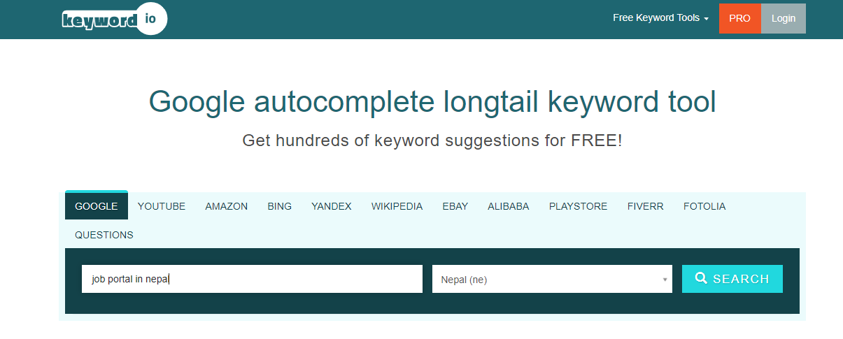 Finding Informational Keyword With Digital Terai